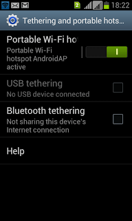 Using Samsung smartphone as modem