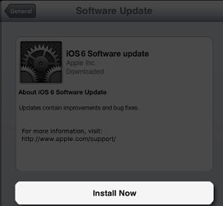 iOS Software Update Installation